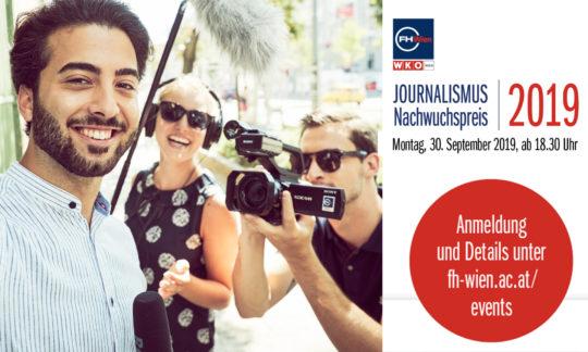 Journalismus Nachwuchspreis: Einladung zur Preisverleihung am 30.9.2019